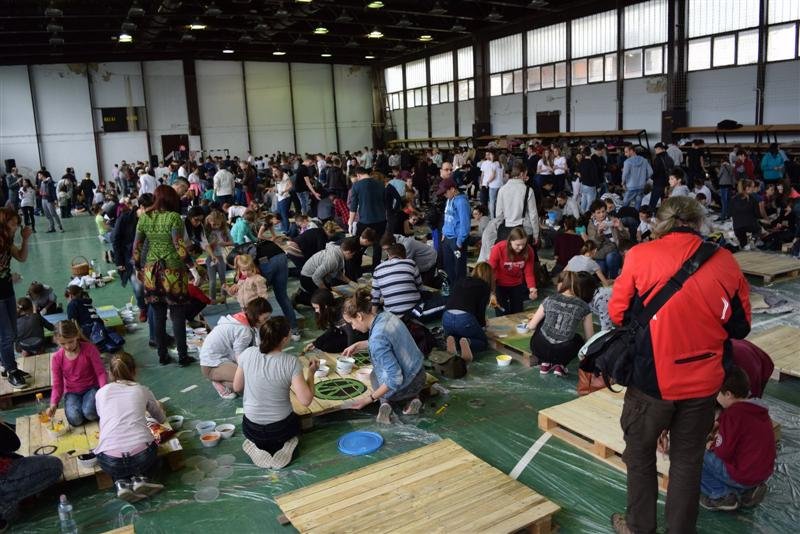 Magyar rekord született Nagykanizsán a raklapfestő versenyen!