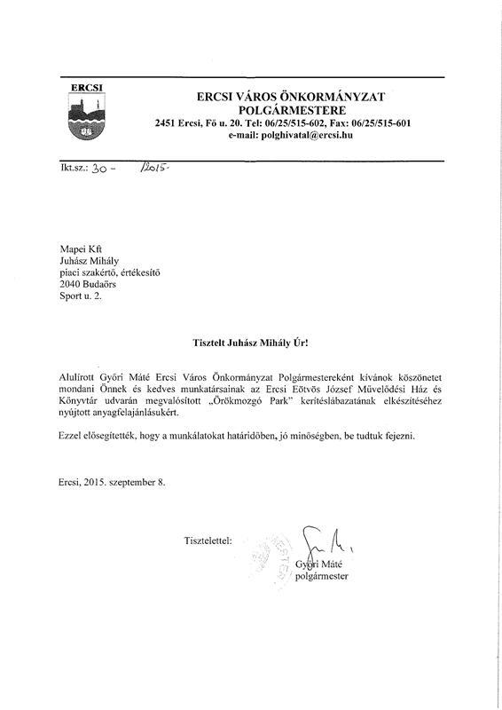 Ercsi Eötvös József Művelődési Ház és Könyvtár kerítéslábazata Mapei termékekkel újult meg.