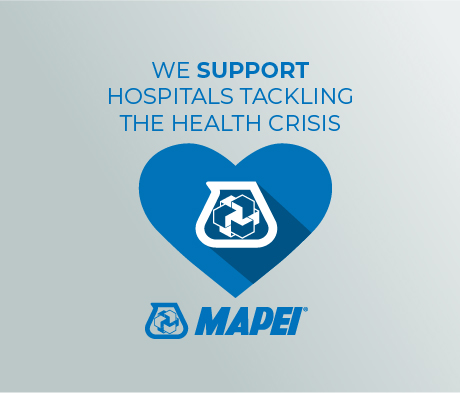 Coronavirus: Mapei is supporting hospitals in their fight against the ongoing health crisis