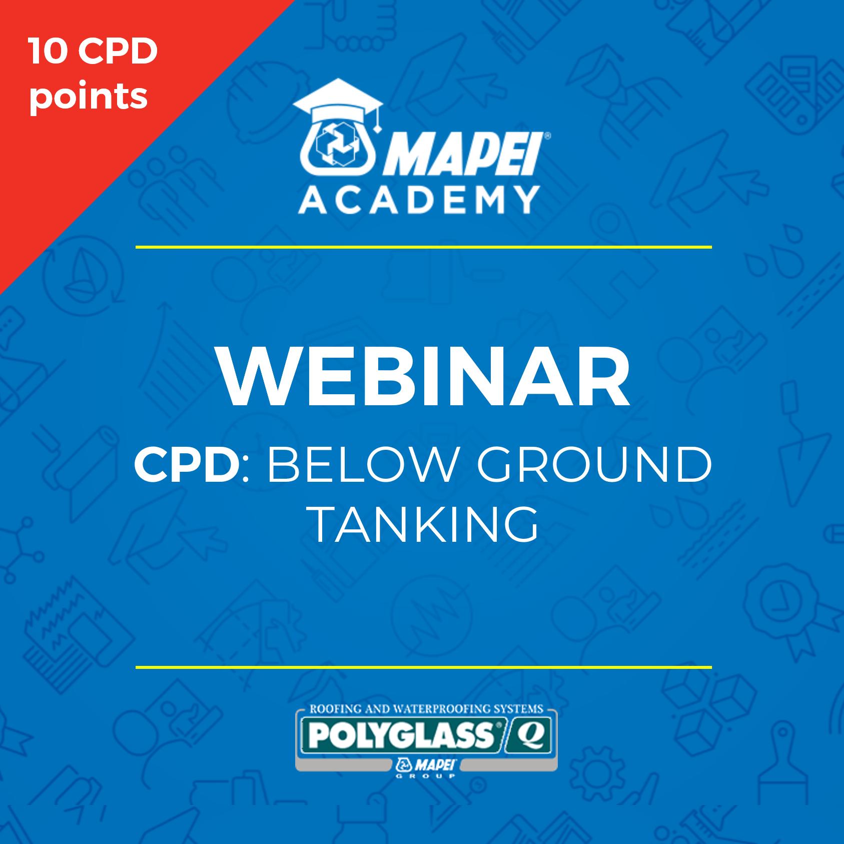 NZ Webinar - CPD-below ground tanking -generic