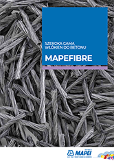 Szeroka gama włókien do betonu MAPEFIBRE