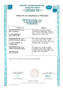 ISO 9001_2015_10 załącznik do certyfikatu