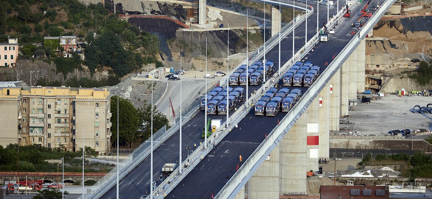 Добавки за бетон и техническа асистенция от Mapei за изграждането на новия мост San Giorgio в Генуа