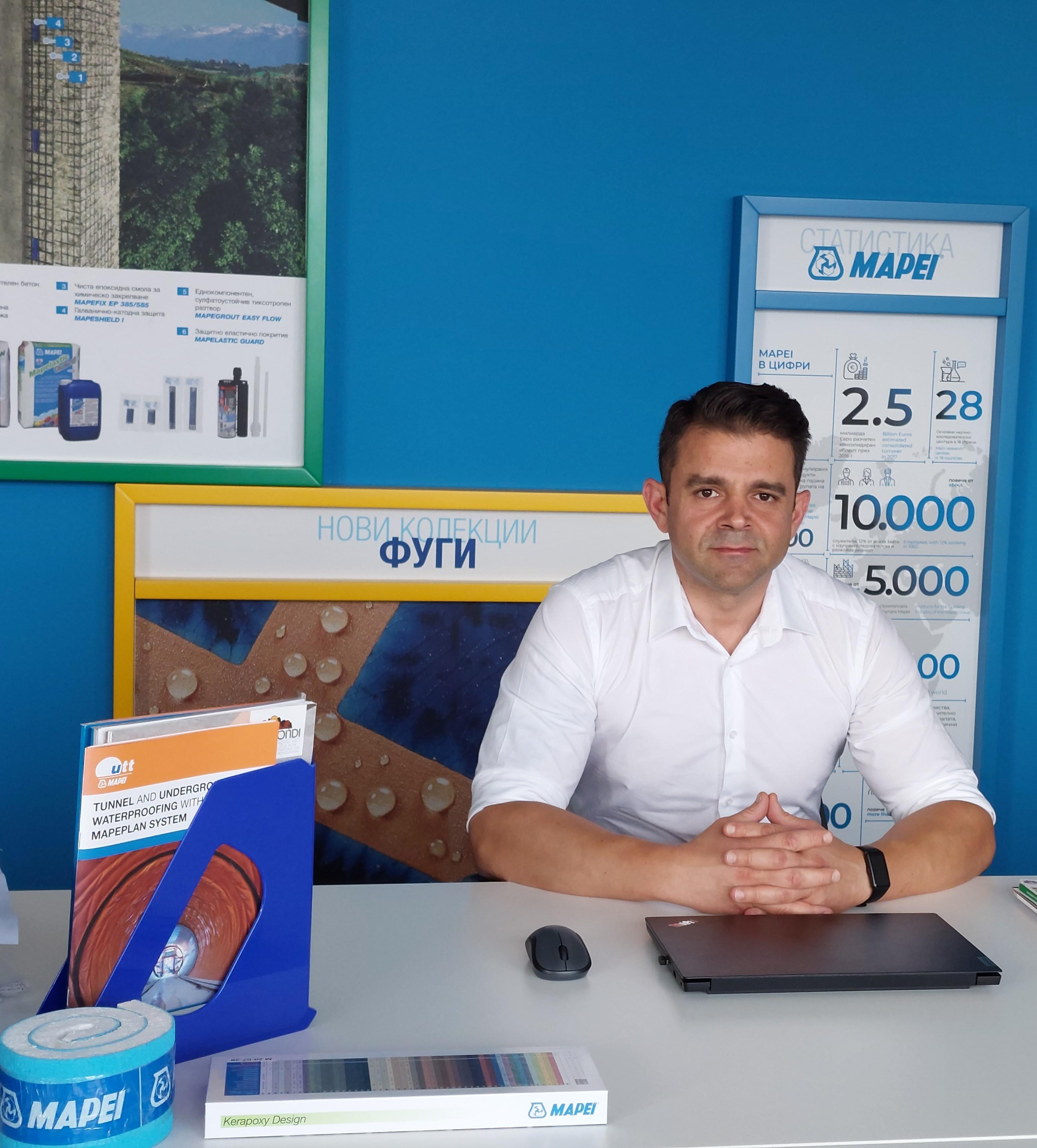 """Мартин Стоянов – технически мениджър """"Мапеи България"""" - Чувството за принадлежност към компания, в която Етичният кодекс е непроменлива величина във времето е основен мотиватор и до днес"""