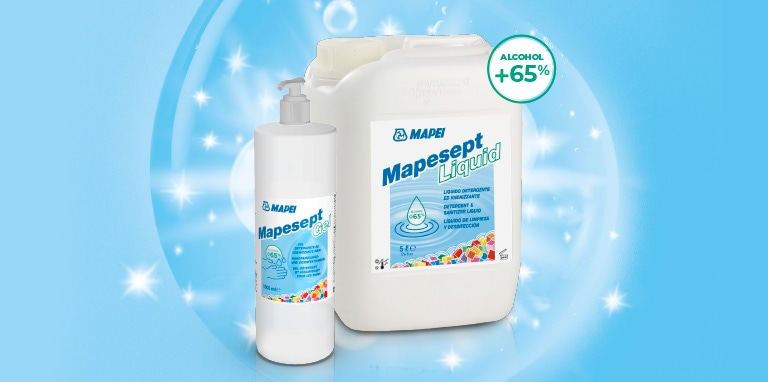 MAPESEPT - дезинфектантът на MAPEI