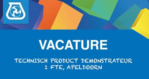 Vacature: Technisch product demonstrateur