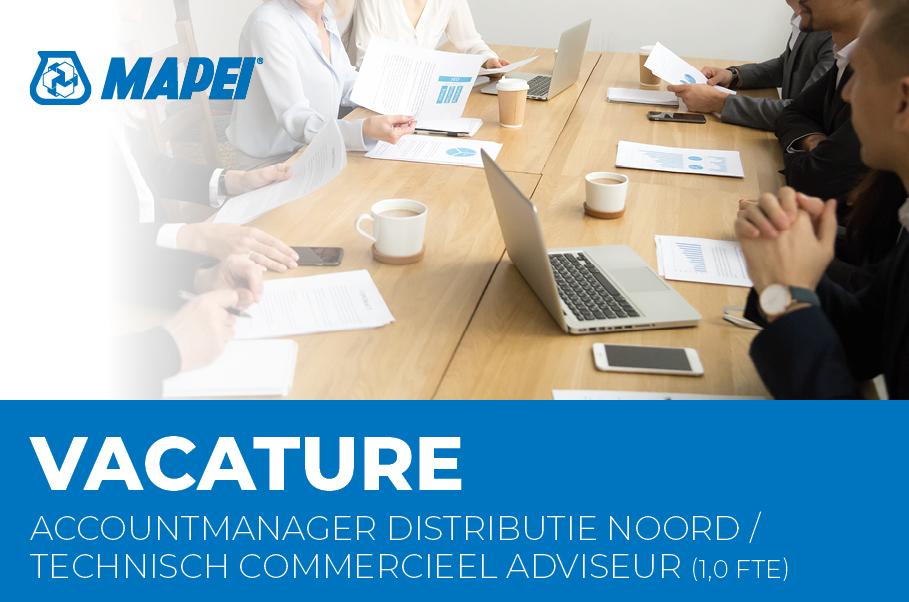 Vacature - Accountmanager Distributie Noord-Nederland / Technisch Commercieel Adviseur