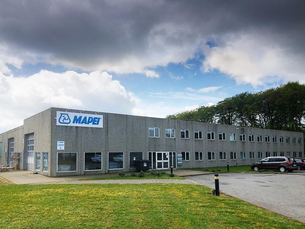 Billede af Mapei Denmarks hovedkontor