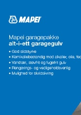 Mapei garagepakke alt-i-ett garagegulv