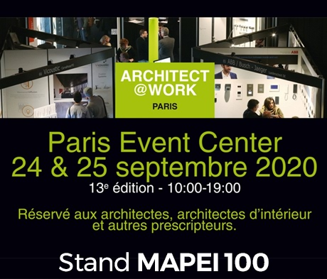 MAPEI au salon ARCHITECT@WORK PARIS 2020
