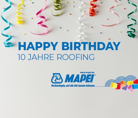 MAPEI Roofing: Zehn Jahre Kunststoffdachbahnen