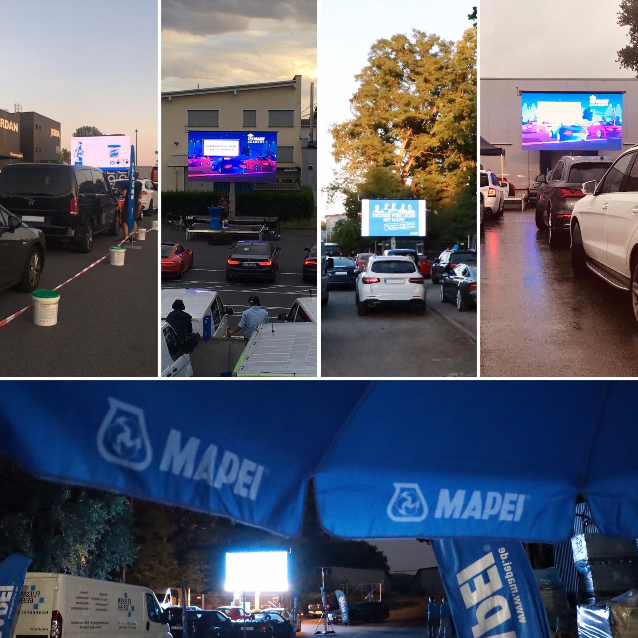 MAPEI Academy Autokino Tour 2020 Mosaik 01
