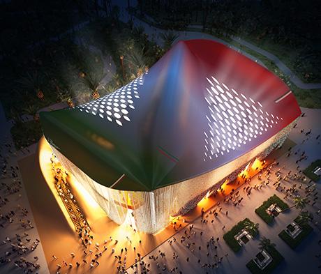 Italienischer Pavillon auf der Expo 2020 in Dubai