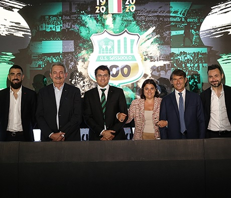 Vorstellung der Aktivitäten zum hundertjährigen Jubiläum des Fußballvereins Sassuolo Calcio