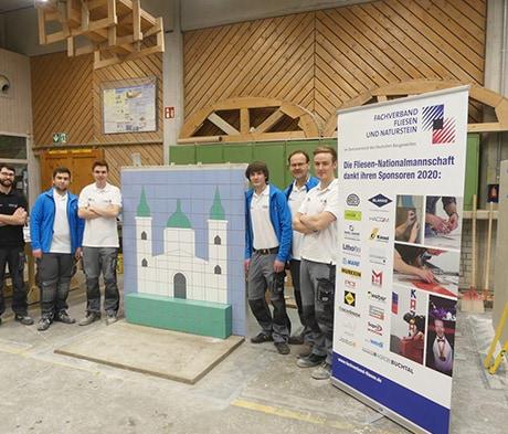 Fliesen-Nationalmannschaft ist mit MAPEI als Sponsor in das EM-Jahr 2020 gestartet