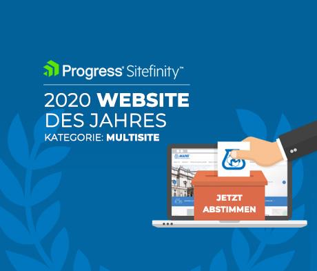 MAPEI ist für den Progress Sitefinity Award 2020 nominiert