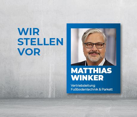 Neuer MAPEI Vertriebsleiter Matthias Winker