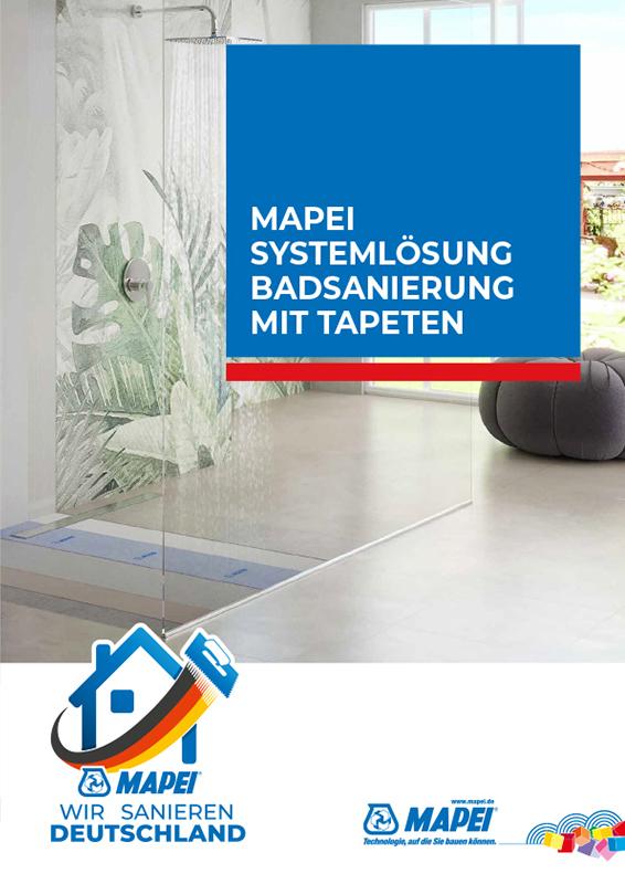MAPEI Systemlösung Badsanierung mit Tapeten