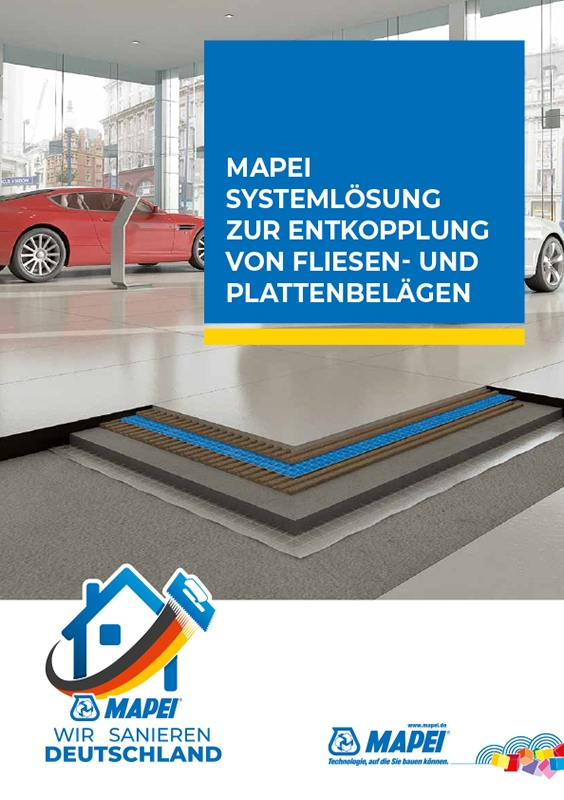 MAPEI Systemlösung zur Entkopplung von Fliesen und Plattensystemen