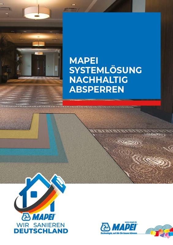 MAPEI Systemlösung Nachhaltig Absperren