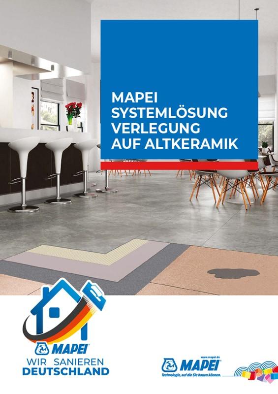 MAPEI Systemlösung Verlegung auf Altkeramik