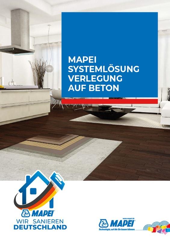 MAPEI Systemlösung Verlegung auf Beton