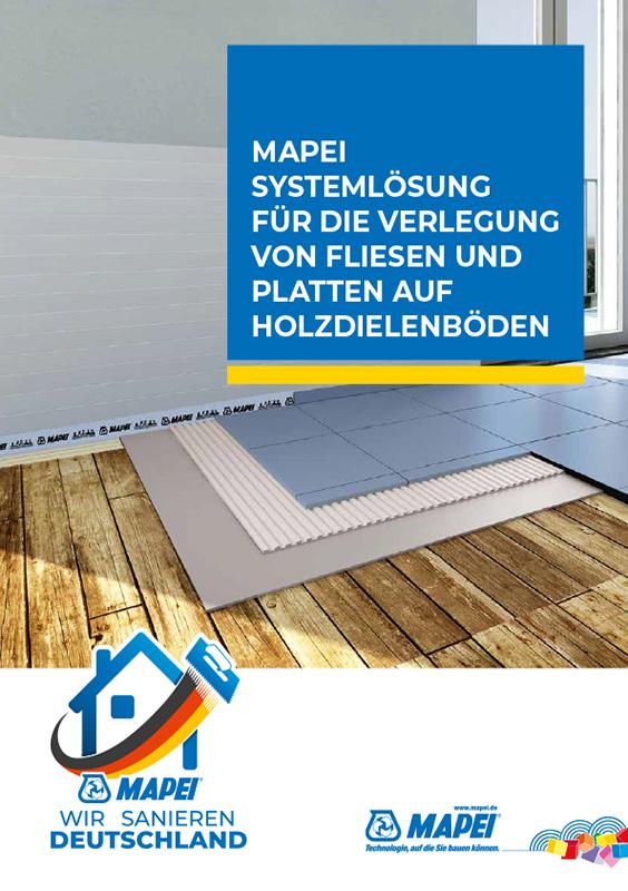MAPEI Systemlösung für die Verlegung von Fliesen und Platten auf Holzuntergründen