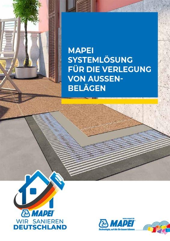 MAPEI Systemlösung Verlegung von Außenbelägen - BDC System