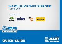 MAPEI QUICK GUIDE – Pumpen für Profis