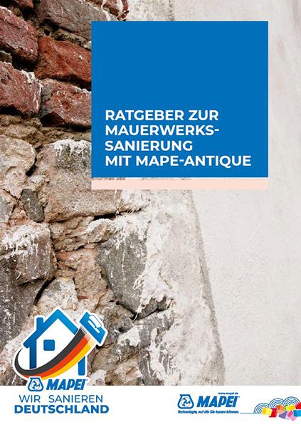 MAPEI Ratgeber zur Mauerwerkssanierung mit MAPE-ANTIQUE