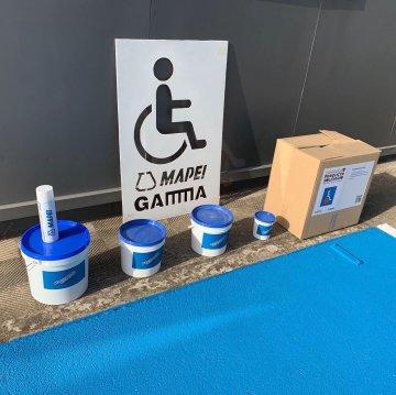 Mapei & Gamma colaboran en pro de la accesibilidad de los discapacitados.