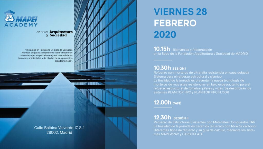 Mapei Academy llega a Pamplona y repite en Madrid