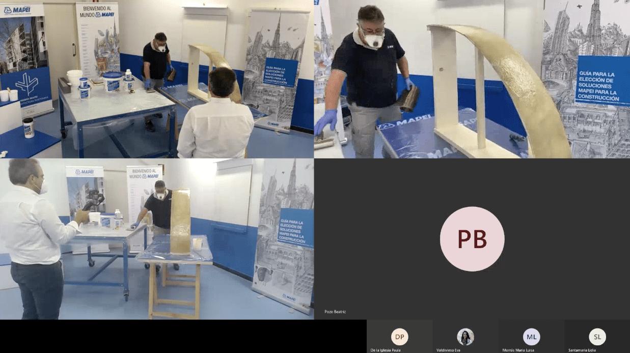 Presencia Virtual de Mapei a Pie de Obra