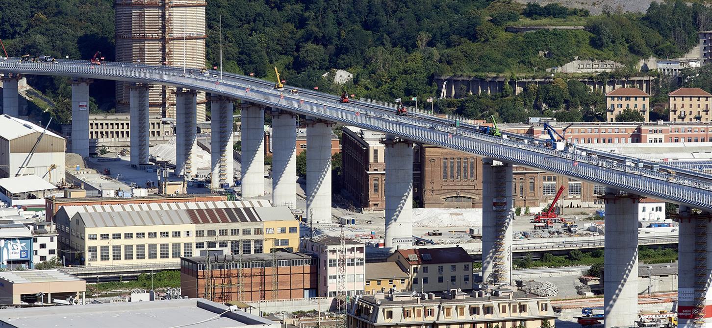 Presencia de los Aditivos y los Servicios Técnicos de Mapei en el puente San Giorgio de Génova