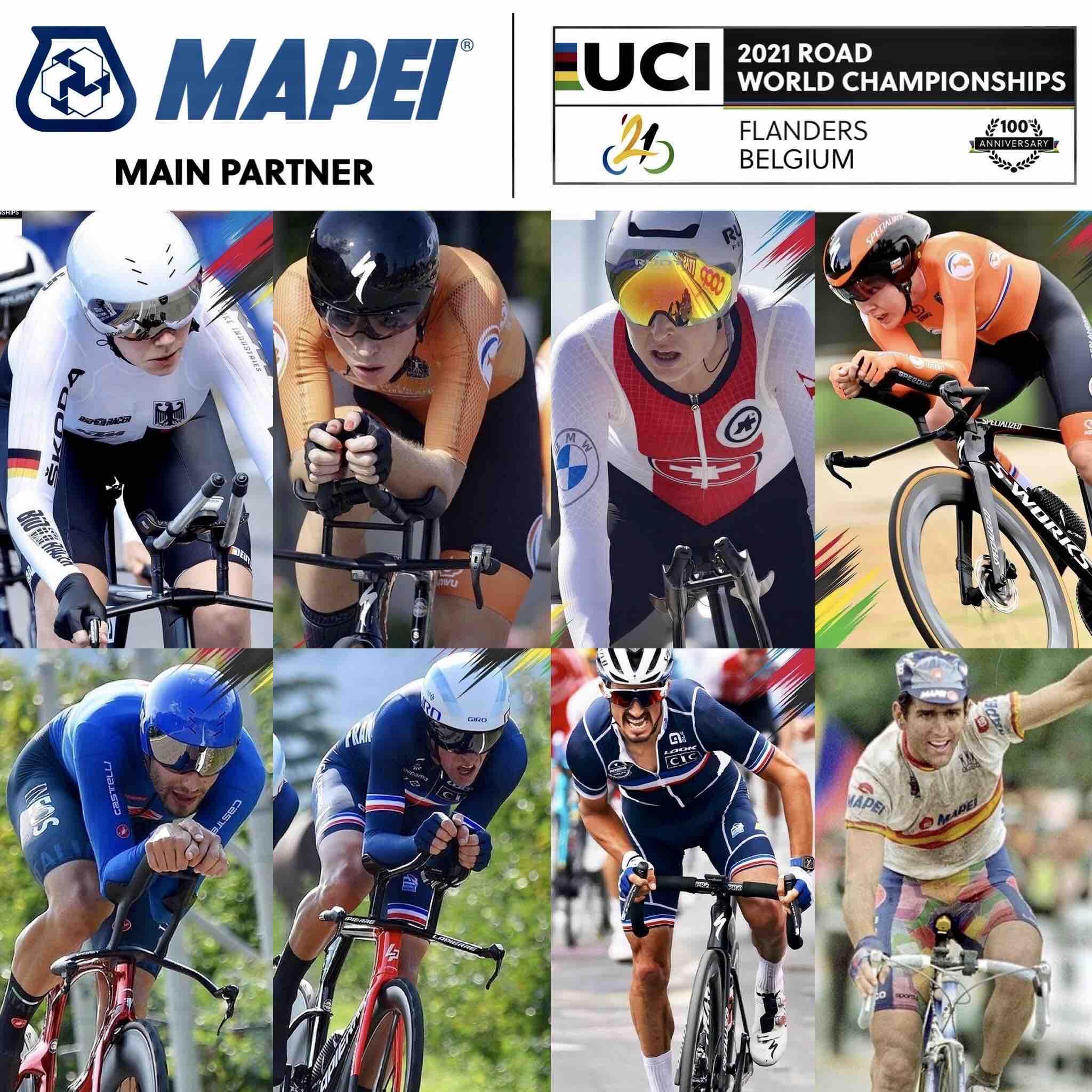 Mapei patrocina el Campeonato del Mundo en Ruta UCI 2021