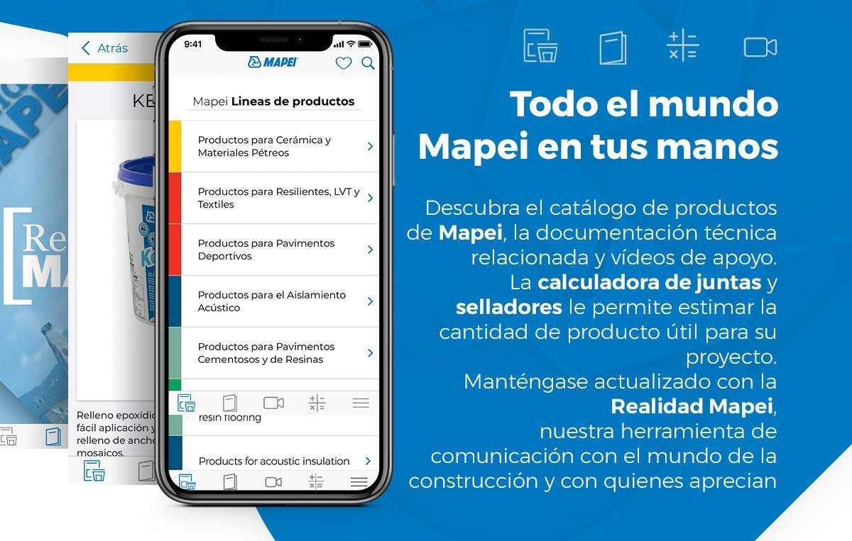 Nueva APP de Mapei para los profesionales del sector de la construcción