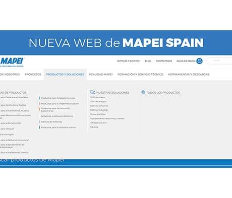 Ya está online la nueva Web de Mapei