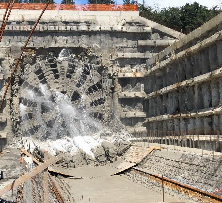 "Breakthrough of the ""Santa Lucia"" Tunnel"