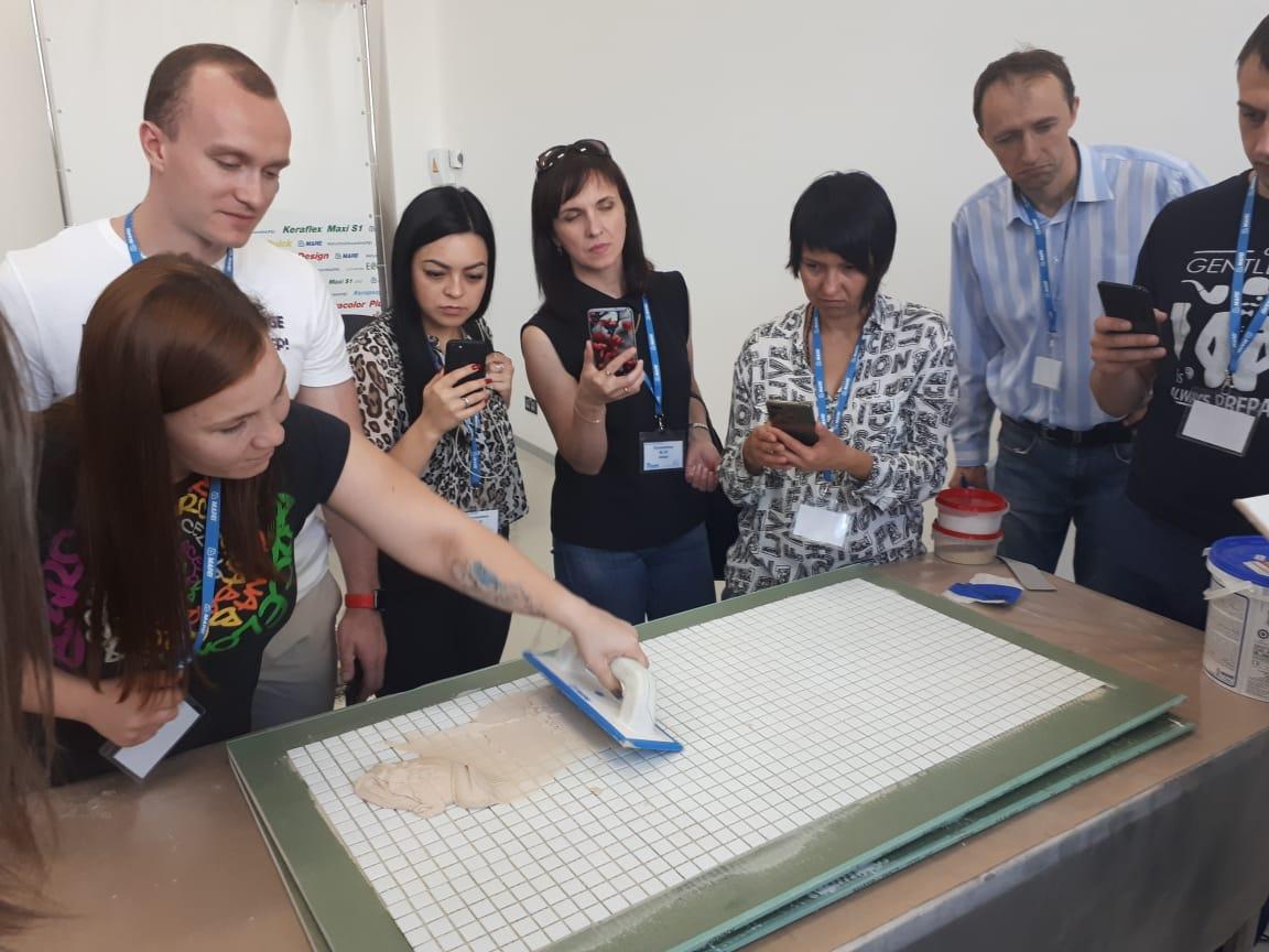 Мастер-классы по керамической линейке материалов MAPEI