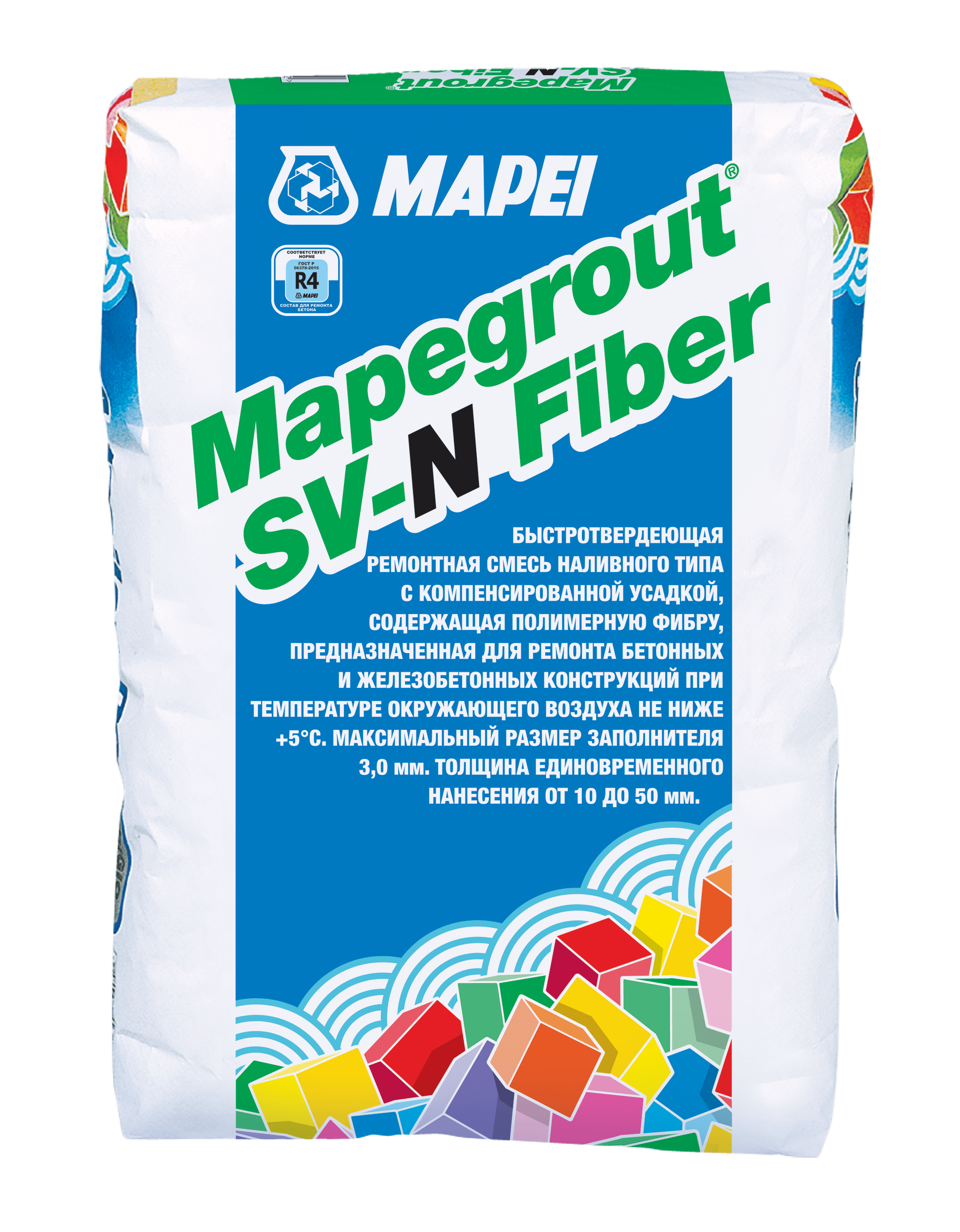 Новый продукт – быстросхватывающаяся ремонтная смесь Mapegrout SV-N Fiber