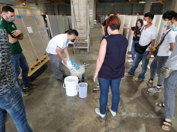 Mapei - Cosentino installation training event
