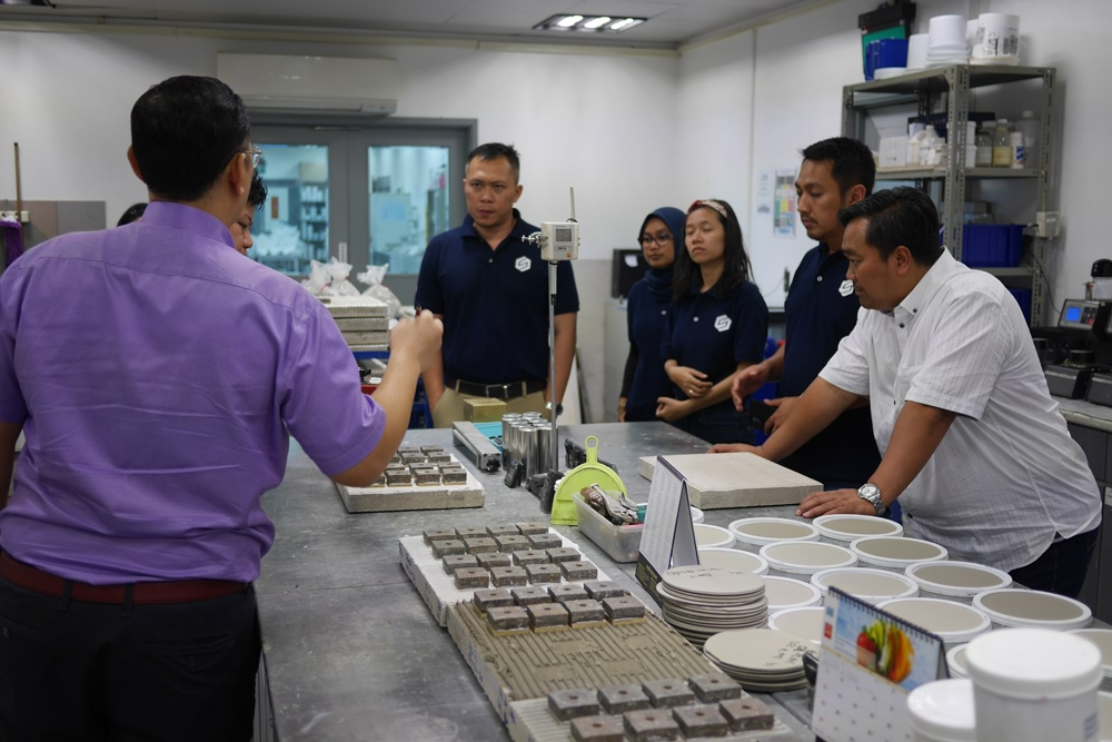 Singapore Office and Site Visits for Mapei Indonesia's Guests