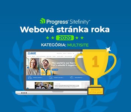 Progress Sitefinity ocenil najlepšiu webovú stránku roka. Prvenstvo získala Mapei.com