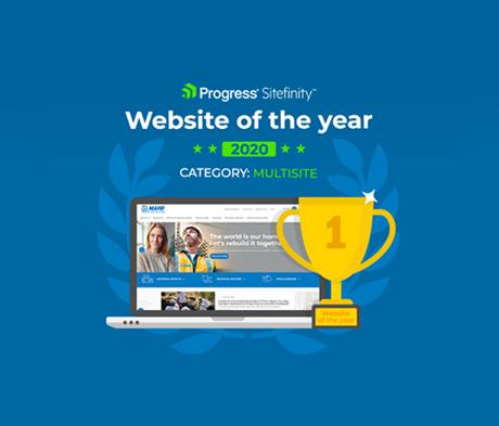 Pris för årets bästa hemsida!