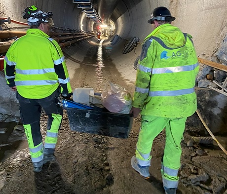 Mapei levererar produkter till TBM Tunnel