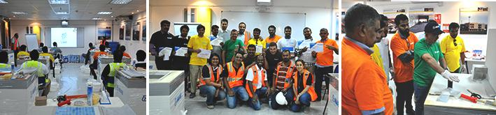 MAPEI organized training and competition for resellers