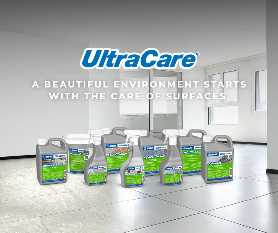UltraCare: the new Mapei line for cleaning, maintaining and protecting surfaces