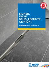 Mapesilent-Unit-System – Sicher. Dicht. Schallschutzgeprüft