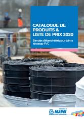Catalogue de produits & liste de prix 2020 – Bandes d'étanchéité pour joints Idrostop PVC