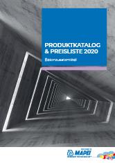 Produktkatalog & Preisliste 2020 – Betonzusatzmittel